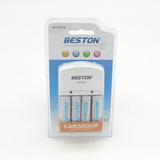 Pila Bateria Recargable Aa X4 3000mah Cargador Beston