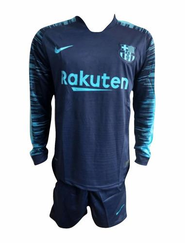 f91bdf6ce6609 Uniforme Barcelona Entreno (camisa+pantaloneta) 2018-2019