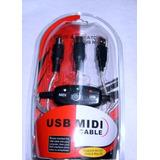 Cable Convertidor Midi A Usb