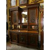 Mueble Bifet Antiguo Francés Grande Tallado Con Mármol