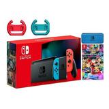 Nintendo Switch Nuevo Modelo+ Mario Kart+timon × 2+estuche