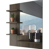 Mueble Baño Espejo Decorativo Repisa Sala Recibo Minimalista