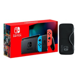 Consola Nintendo Switch New Model. Caja Roja + Regalo: Forro