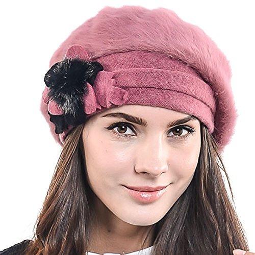 F n Story Boina De Invierno Francesa Lana Mujer Rosa Angora 5972d200b5b
