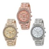 Reloj Metalico O Relojes Geneva Con Piedras  Tipo Diamante