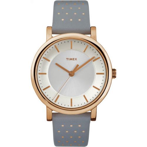 b375424a8d86 Reloj Timex Para Mujer Tw2r27400 Gris Con Correa De Cuero