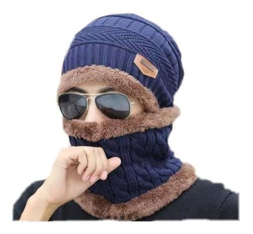 e56dd80da5 Gorro Bufanda Hombre Unisex Frio Invierno Cuello Mujer 4colo