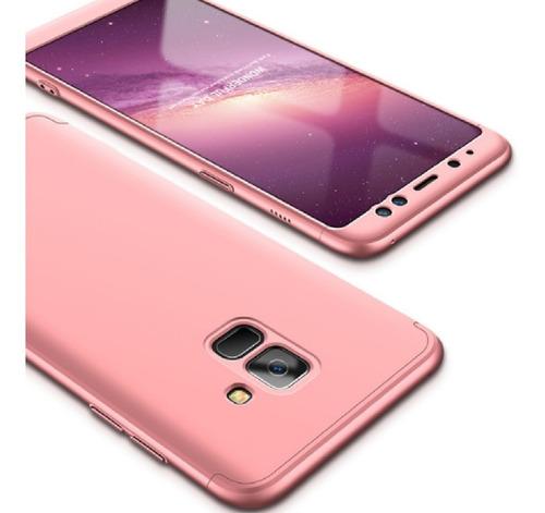 Protector Estuche  360 Samsung Galaxy A8  2018 Rosa