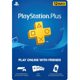 Playstation Psn Plus 12 Meses 1 Año Ps4 + Juegos
