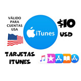 $10 Gift Card Tarjeta Regalo De Itunes Ee.uu  entrega Hoy 