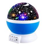 Lampara Rotatoria Proyector Cielo Estrellas Noche Dormir Luz