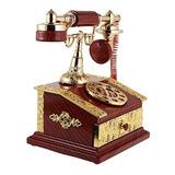 Joyero Caja Musical De Cuerda Teléfono Antiguo Pf068