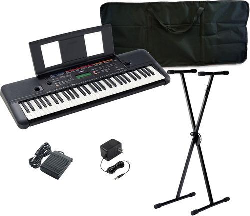Combo Organeta Yamaha Psr-e263 Atril Estuche Pedal Piano Ada