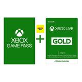 Combo 1 Mes De Xbox Game Pass Mas 1 Mes De Xbox Live Gold
