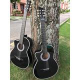 Guitarra Acústica Clásica Para Zurdos Forro Metodo
