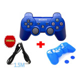 Control Sony Ps3 + Forro + Cable + 2 Tapones 4 Colores