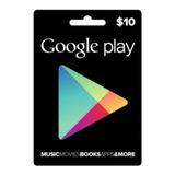 Tarjeta Google Play 10 Usd - Entrega En Minutos
