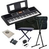 Kit Organeta Yamaha Psr-e363 Atril Silla Pedal Estuche Y + /