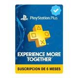Playstation Psn Plus 6 Meses 182 Dias Ps4+juegos