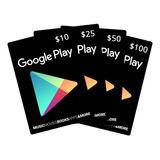 Google Play Tarjeta De Regalo 10$usd - Entrega Ya