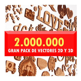 Mega Pack De Vectores 2.000.000 Para Corte Laser 2d Y 3d
