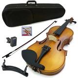 Kit Violin Greko Mv1411 Estuche Afinador Almohadilla Arco /