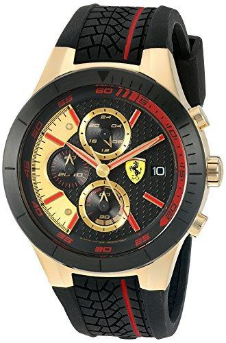 8c81875a0a2a Ferrari 830298  red Rev Evo Chrono  Reloj De Cuarzo De Oro Y