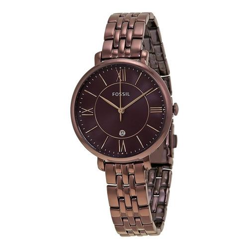 dfd36d0378ca Reloj Fossil Es4100 Dama Jacqueline Acero 3 Agujas Con Fecha