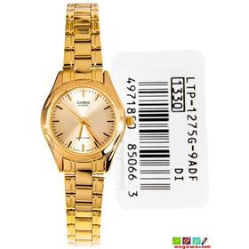 Reloj Casio Ltp-1275g Dorado En Acero Analogo Original!
