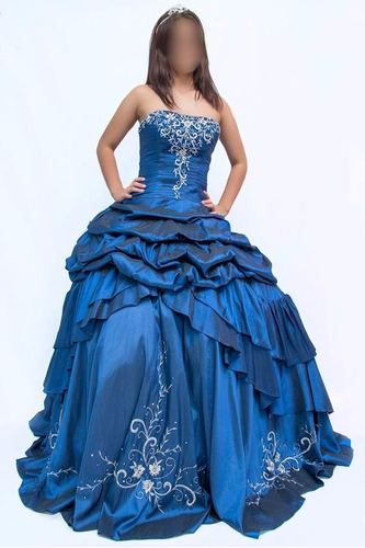 c3993e7c8 Vestido De Quince Años Nuevo Talla M Azul Rey