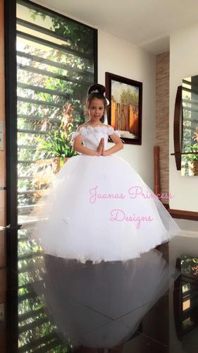 b4bd5a9892b07 Vestido Primera Comunión 2 En 1 Exclusivo Juanas Princess