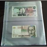 Hoja Acetato 2 Bolsillos Carta Coleccionar Billetes Oferta