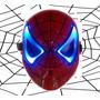 Máscara Luz Led Spiderman Hombre Araña
