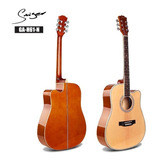 Guitarra Acustica Folk Smiger Ga-h61 Cuerdas Acero Música /