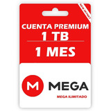 Cuenta Premium Mega 1 Tb 1000 Gb 30 Días, Entrega Inmediata.