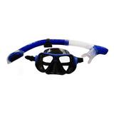 Máscara Snorkel Careta Profesional Buceo Lente Antiempañante