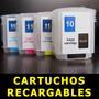 Cartuchos Recargables Hp 10 Hp 11 Combo De 4 Cartuchos