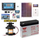 Bomba Agua Solar 3.5l/min Controlador Carga Panel Solar