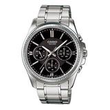 Reloj Casio Mtp-1375d Multiaguja Acero Hombre 100% Original