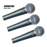 Tres Micrófonos Shure Beta 58a Por El Precio De Uno 3x1