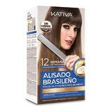 Kit Alisado Brasileño Kativa Natural Cabellos Oscuros  150m