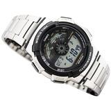 Reloj Casio Ae-1100wd Acero Crono 5 Alarmas 100% Original