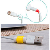 2 Protectores Colores Cable Puerto Lightning Iphone, Ipad