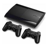 Ps3 Play Station 3  Súperslim 250gb + Juegos +dos Controles
