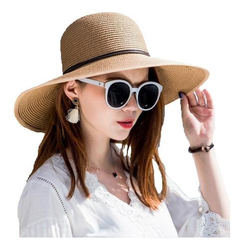 64d22e2e35 Sombrero Pava Mujer Sol Viaje Elegant 1 Unidad Playa Gorro