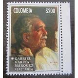 Gabriel Garcia Marquez Estampilla Colombia 2014