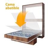 Cama Abatible Multifuncional 120cm Ancho  Maderkit M01291-pr