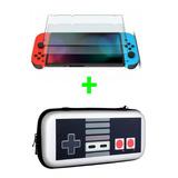 Estuche Rigido Nintendo Switch Ed. Nes + Vidrio Templado