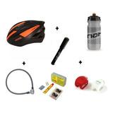 Combo Bicicleta Kit Despinche+casco+luz+candado+bomba+termo