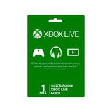 Xbox Live Gold 1 Mes Región Libre Código